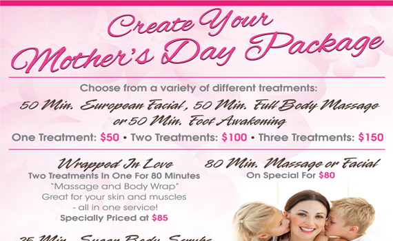 Mothers Day Specials - Click to View the Flyer